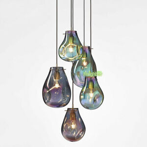 New Mondern Stained glass Suspension Pendant Lights Bar Ceiling Light Chandelier