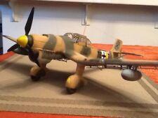 built plastic model in 1/32 nd scale of a german Stuka