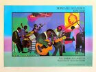 """ROMARE BEARDEN RARE 1981 LITHOGRAPH PRINT """" JAMMING AT THE SAVOY """" EXHBT POSTER"""