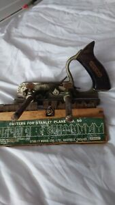 Stanley no 50 combination plane with cutters + vintage extras just found see pic