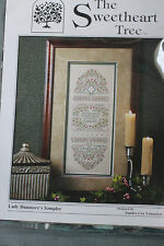 The Sweetheart Tree - Lady Dunmore's Sampler - Counted Cross Stitch Kit New