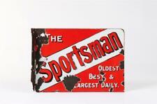 "Vintage ~ c1920 ~ ""The Sportsman"" ~ Double Sided Enamel Sign               #1200"