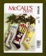 Hanging Christmas Stockings Sewing Pattern! 3 Variations~McCalls 7063