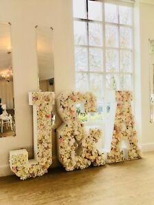 Silk flower letters for weddings, LOVE light up All letters available bride HIRE