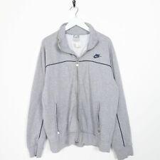 Vintage NIKE Small Logo Zip Up Sweatshirt Jumper Grey Large L