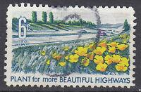 USA Briefmarke gestempelt 6c Plant for more beautiful Highways Blume / 1246