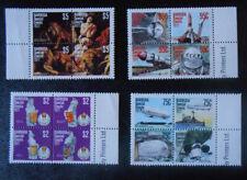 Barbuda: 1977 Complete set of 5 MNH se-tenant blocks, SC # 318-322 a-d.#7641