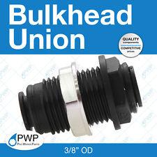 "John Guest Bulkhead Union 3/8"" OD"