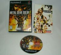PlayStation 2 PS2 Metal Gear Solid 3 Snake Eater game w/ case & manual, 2004