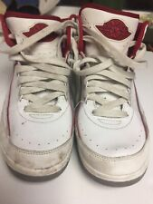 2014 Air Jordan Basketball Shoes Red & white boys size 6Y lot #7