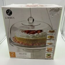 New listing Libbey 2 Pieces Selene 6 In 1 Server Cake Cup