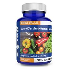 Multi Vitamins For Over 60 Tablets - 25 Essential Vitamins and Minerals, By Z...