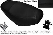 Negro Stitch Custom encaja superbyke Powerband 50 Doble Cuero Funda De Asiento