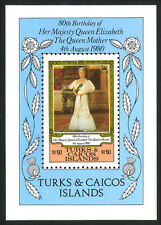 Turks & Caicos 441 S/S, MNH. Queen Mother Elizabeth 80th Birthday, 1980