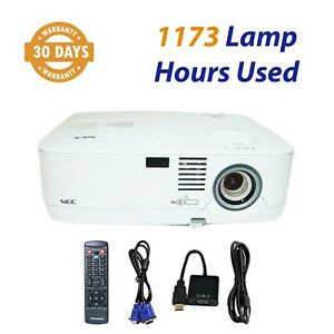 NEC NP500 3LCD Projector 3000 ANSI HD 1080i HDMI Adapter - 1173 Lamp Hours Used