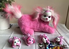 Puppy Surprise Pink & White 2017 Plush Doll Dog With 4 Puppies Just Play Toy