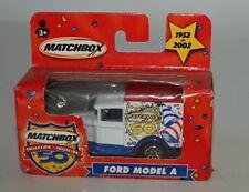 Matchbox 2002 50 Collection Ford Modèle a Blanc et Bleu en Fenêtre Boîte