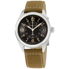 Hamilton Khaki Field Quartz Mens Watch Suede Stap Black Dial H68551833