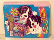 Lisa Frank File Folders Three Folders Dogs, Labels, and Stickers