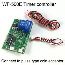 Coin acceptor operated timer relay switch control board with Timer Display DC12W