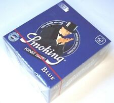 1 Box - SMOKING BLUE 50 Heftchen mit je 33 Papers Blättchen King Size KS SMK