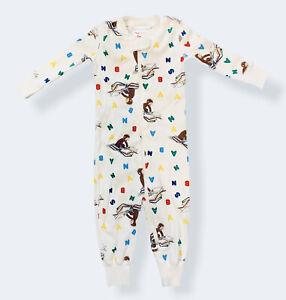 Hanna Andersson Curious George Sleeper In Organic Cotton Pajama Sz 70 6-12 M EUC