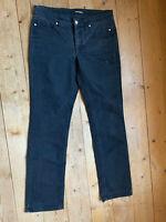 Stretch Jeans von Cambio anthrazit classic straigt cut Strass Knöpfe 42 44