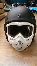 Blanco y máscara de cara abierta de las Gafas casco de motocicleta gafas de protección de Visera Escudo