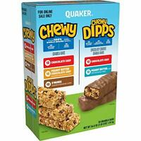 snack food Quaker Chewy Dipps & Granola Variety pack 58 Bars