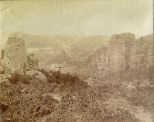 Meteora Monasteries, central Greek #452 Vintage Albumen photo, c. 1880