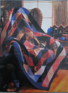 Vintage Never Used American Pacific Hand Quilted Patchwork Throw 50 x 60