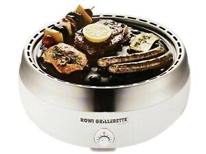 Rowi Holzkohlegrill Aktivbelüftung Grill BBQ Tischgrill Raucharm Grillerette