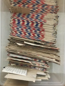 VINTAGE Lot of 7 WW II Letters To/From Marine with Postal Covers