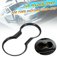 Auto ABS Carbon Wasser Cup Holder Panel Cover Trim für Ford Mustang 2015-2019