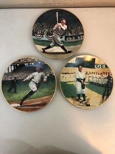 (1993) Jeff Barson Legends of Baseball Plates (Ruth, Gherig, Cobb)