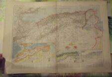 1900 Original Vintage Map Vidal-Lablache Algérie & Tunisie Alger Sidi-bel-Abbes
