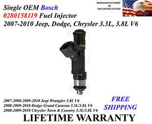 Set of 6 Bosch 0280158028 injector 08-10 Dodge grand caravan 4.0L V6 04591986AA