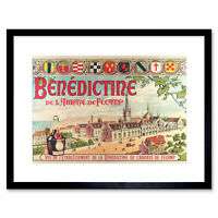 Advertisement Benedictine Liqueur Herbal Beverage Drink Framed Wall Art Print