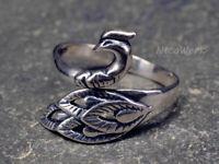 Silberring Pfau Ring Silber 925 Verstellbar Offen Damenringe Damen Schmuck