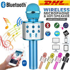Wireless Bluetooth Karaoke Mikrofon Lautsprecher Handheld Mic KTV Microphone USB