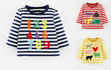 BABY BOYS X MINI BODEN APPLIQUE STRIPE TOP TSHIRT 0 3 6 12 18 24 2 3 YRS NUMBERS