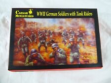 CEASAR MINIATURES H077 WWII GERMAN SOLDIERS WITH TANK RIDERS  (30 X 1:72) - NEW