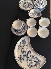 15 pcs~Mixed Lot BLUE DANUBE Onion Pattern 99183 Cups, Bowls & Plate Japan