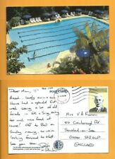 SINGAPORE  POSTCARD STAMP- THE BRITISH CLUB-25 MT.AWIMMING POOL-  SINGAPORE