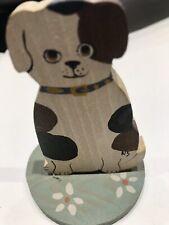 Natalie Silitch Folk Art  Dog on Stand, May be Vintage USA