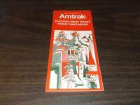OCTOBER 1976 AMTRAK CHICAGO WEST COAST PUBLIC TIMETABLE