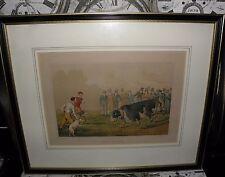 5 henry alken prints, années 1820-bull appâtage, bear appâtage, dessin le blaireau