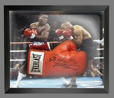 *New* Frank Bruno Signed Red Boxing Glove Presented In A Dome Frame : A