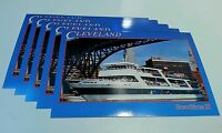 (5) Lot VTG  80's 90's New Blank NOS Goodtime III Cruise Postcards Cleveland OH