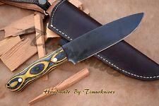 "11"" CUSTOM MADE 1095 STEEL ACIDWASH MASTER BUSH CRAFT|CAMP KNIFE|WOODTIMURKNIVES"